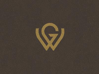 GW Monogram grid lettering monogram vector branding logo gw letter name initials custom
