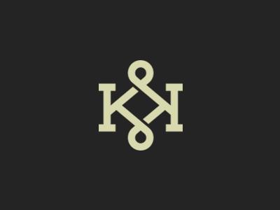 KK Monogram slab serifs kk letter monogram logo vector grid brand custom k twisted