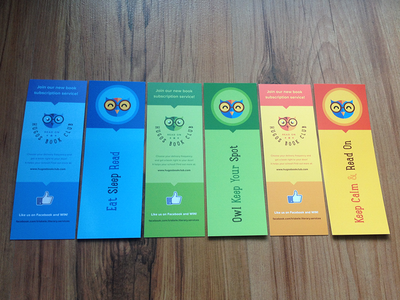 Triskele Bookmarks 2014 corporate bookmark print education smart owl logo vector branding flat offset