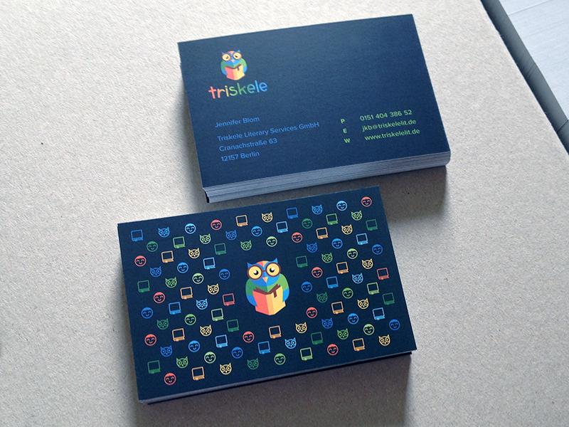 Triskele Biz Cards cards vector grid icons pattern kids owl book logo print offset