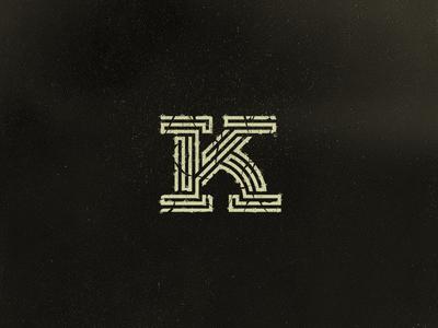K grain letter grid vector custom type vintage texture handlettering k geometrical lineart