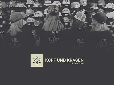 Kopf und Kragen kk logo vector grid monogram fashion store hamburg branding