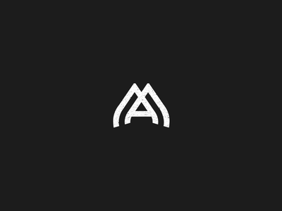 MA Monogram logo vector grid monogram letter m a ma branding mark initials geometrical