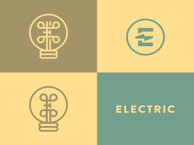 Electric electric bolt branding logo monogram mark e letter corporate bulb electricity agency