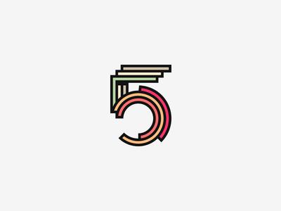 5 logo vector number 5 five branding grid