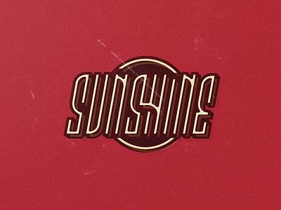 Sunshine ligature vector logo sunshine type custom type handlettering vintage texture typography badge