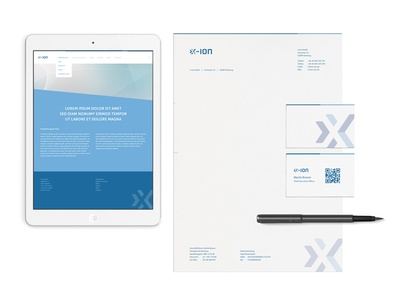x-ion stationary logo vector branding stationary print webdesign website it mark x corporate identity