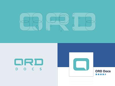 ORD Docs grid translation logo branding vector identity speech bubble chat custom type logotype