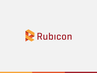 Rubicon Labs r identity vector logo branding letter logotype mark