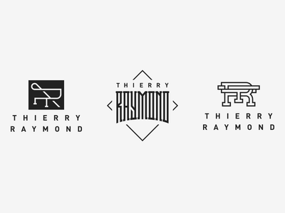 Raymond logotype type custom tr mark vector handlettering custom type logo monogram