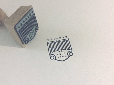 Raymond Stamp logotype branding print stamp name wordmark logo custom type typography lettering type