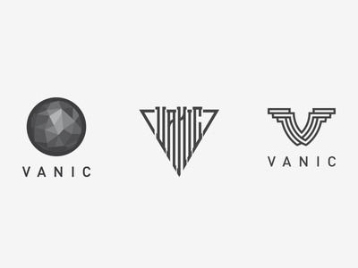VANIC lettering typography logotype twisted monogram logo vector symbol mark v branding