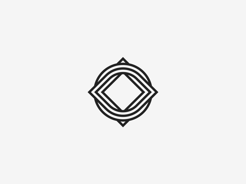 Knot square icon circle symbol geometrical branding identity logo twisted knot