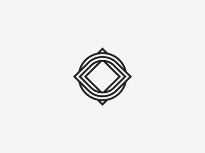 Knot square icon circle symbol geometrical branding identity logo twisted knot