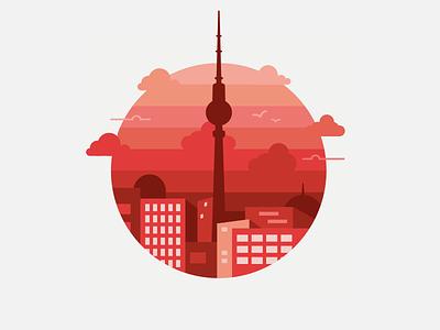Berlin Badge vector nuances skyline city drawing illustration badge berlin