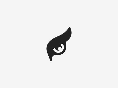 Owls eye vector identity branding illustration eye icon logo owl
