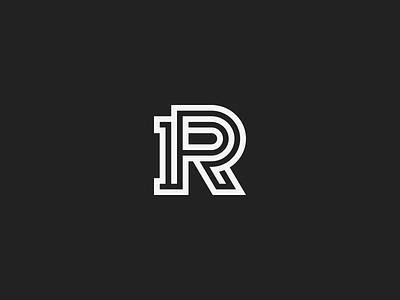 PR Monogram mark branding monogram logo r p