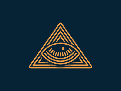 All Seeing Eye badge identity mark logo illustration eye