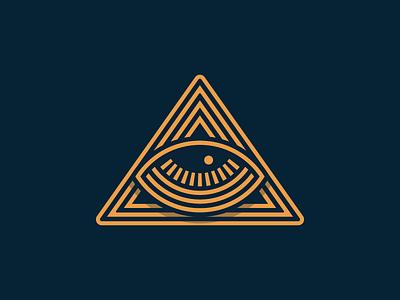 All Seeing Eye badge identity mark logo illustration eye