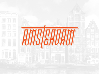Amsterdam Custom Type logotype typography custom type lettering amsterdam