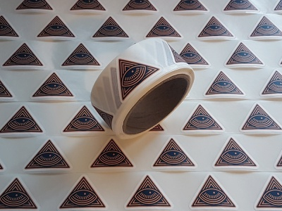 All Seeing Eye Tape branding vector sticker pack logo labels sticker design stickermule tape all seeing eye illustration sticker