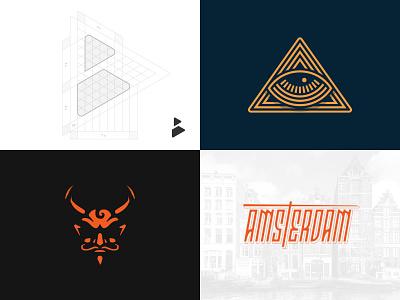 2018 illustration lettering typography branding logo