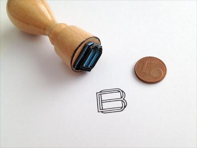 Monogram Stamp stempel initials script letter stamp monogram paper logo bo brand mark fashion corporate bradaric ohmae outlines ink identity twisted grid custom