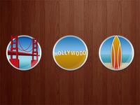 West Coast Theme Icons for an iPad app