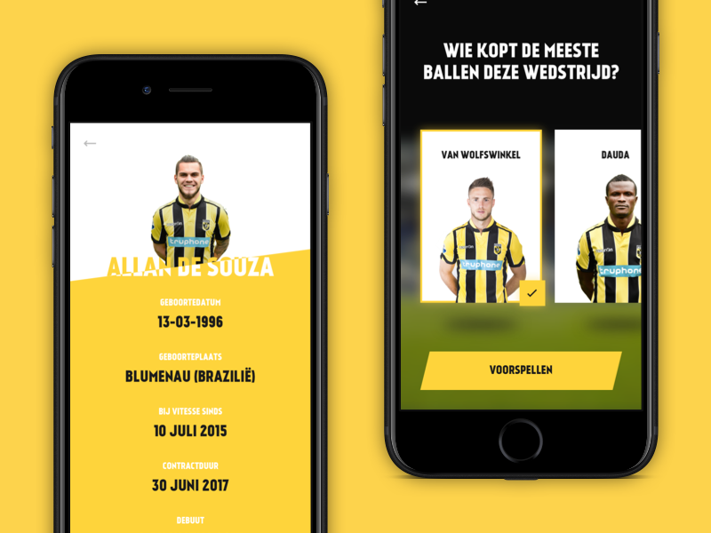Football app by Marc Kuiper on Dribbble