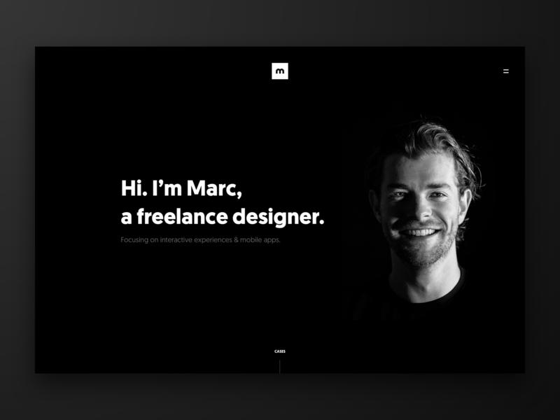 Personal Portfolio Website white clean dark user interface black ux ux design ui design ui