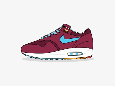 Nike Air Max 1 illustration sport shoe sports shoe vector illustration nike air max nike