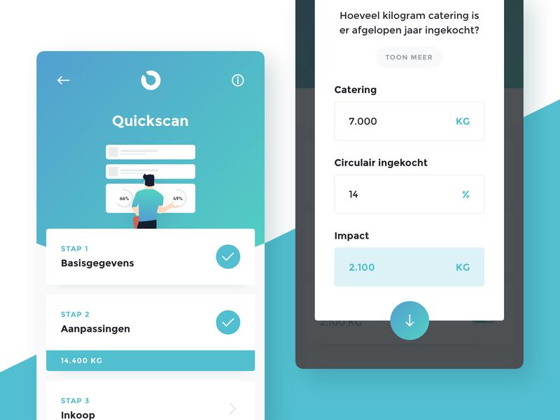 Quickscan. white blue illustration app design app user interface clean ux design ux ui design ui