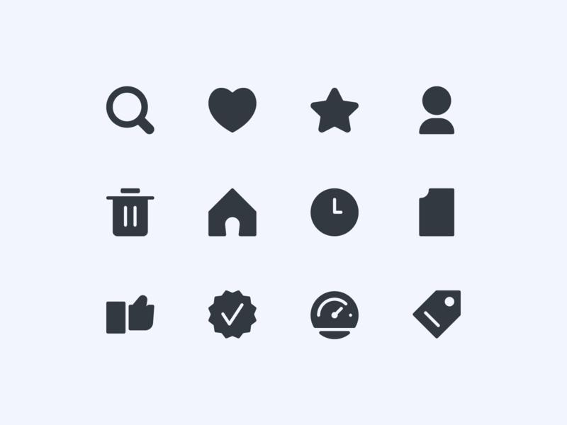 Basic UI Icons Exploration ux button ui design iconography icon