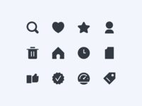 Basic UI Icons Exploration ux button ui design iconography icon