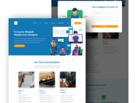 E Course Landing Page web landing page ui illustration