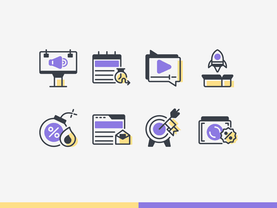 Online Marketing Icons iconography icon design icons icon marketing