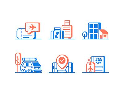 Safe Travel Icons illustration icons icon travel