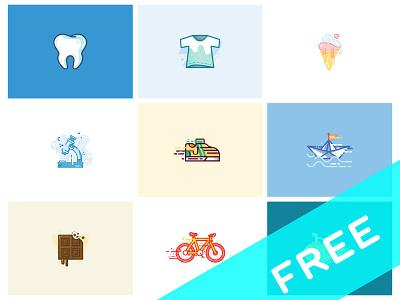 10 Free Vector Illustrations (Part I) ai vector icon illustration freebies free