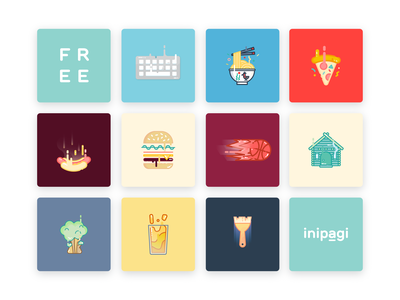 10 Free Vector Illustrations (Part III) food illustration icon vector freebie free