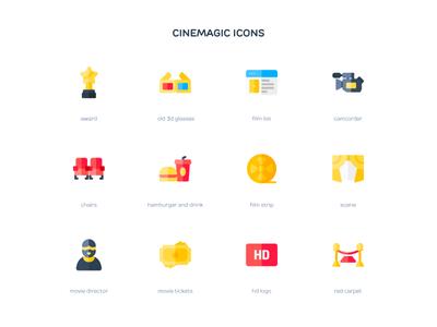 Cinemagic (Flat) iconset iconpack iconography icons icon cinema