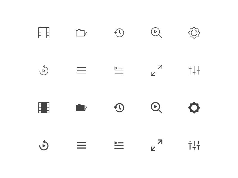 Video Player Icons by Rizki Kurniawan Darsono for Inipagi