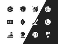 Glyph sport icons big