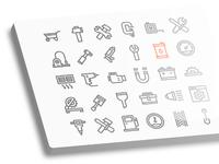 Work tools  glyph  big