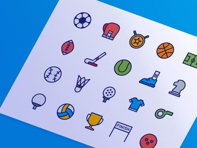 Sport Icons  (Filled Line)