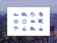 Global Logistics Icons (Glyph Version)