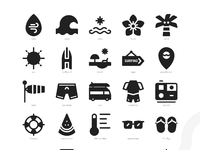 Surf icons  glyph  full preview