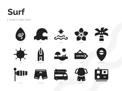 Surf Icons (Glyph)