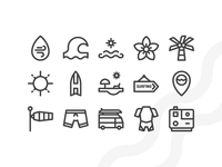 Surf Icons (Outline)