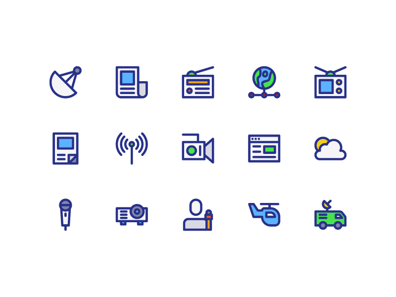 News And Magazine Icons