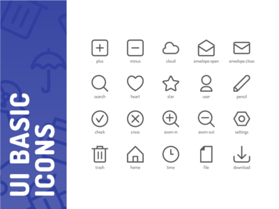 UI Basic Icons